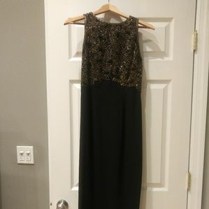 Oleg Cassini black maxi dress - size 6